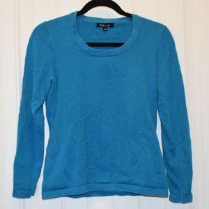 Dalia Crew Neck Sweater in Blue Small